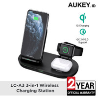 Wireless Charger Station Aukey LC-A3 3-in-1 - 500594