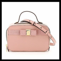READY Salvatore Ferragamo New Vara Camera Bag Antique Rose. Branded