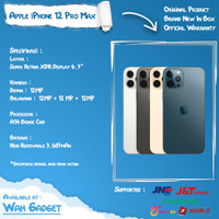 Iphone 12 Pro Max / 12 Pro 512GB 256GB 128GB Blue Gold Silver Resmi - 128GB Pro Max, Graphite