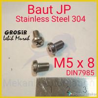 Baut JP M5 x 8 SUS304