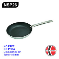 NSP26 Wajan Anti Lengket 26CM (Tebal) / Non Stick Ceramic Coat Pan