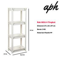 Rak Serbaguna Rak Buku Rak Penyimpanan Dapur Rak Kamar Mandi IKEA - 4 Tingkat