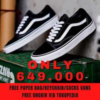 Sepatu Sneakers Pria Vans Old Skool Os Black White BW ORI ORIGINAL