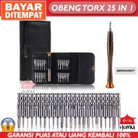 Homu Obeng Reparasi Torx Set 25 in 1 dengan Dompet / Obeng Set
