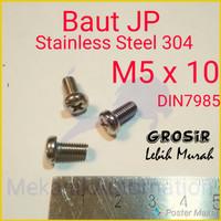 Baut JP M5 x 10 SUS304