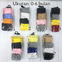 Legging Bayi Cotton Rich Tights Polos / Legging Baby Carter isi 4 in 1 - 0-6 Bulan, Nomor 2