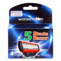 Watsons Mens 5 Blade Razor Catridge 4s