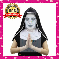 Topeng Seram Halloween Nun Valak Movie Latex Mask