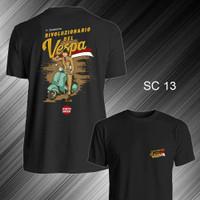 Kaos T Shirt Distro Motor Vespa Scooter Lengan Pendek SC 13