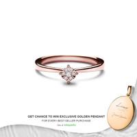 Lino and Sons - Cincin Berlian F VVS ( Ariana Diamond Ring ) - whitegold