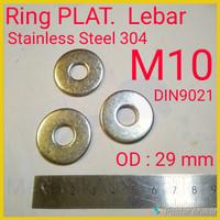 Ring Plat M10 - Lebar SUS304