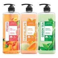 Watsons Bundling Shower Cream Peach Cantaloupe Green Tea