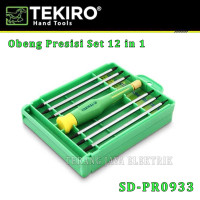 OBENG SET PRESISI / PRECISION SCREWDRIVER 12 in 1 TEKIRO SD-PR0933