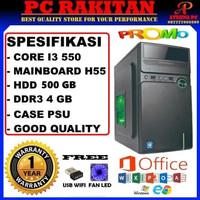 PC Rakitan Komputer CPU Rakitan Murah Core i3 550 DDR3 4GB RK24