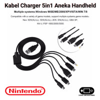 Kabel Charger 5in1 Nintendo DS Lite Gamepad Wii U 3DS 2DS DSi XL LL