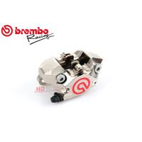 Kaliper Brembo P2 Nickel Chrome CNC 2 Piston Red Logo Original Brembo