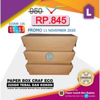 PAPER LUNCH BOX CRAFT / KEMASAN MAKANAN / PAPER TAKE AWAY / UKURAN L