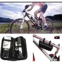 skysport alat perbaikan sepeda ban inflator obeng set kit peralatan