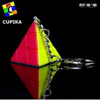 Rubik Keychain QiYi Pyraminx 3x3x3 Stickerless QiYi Gantungan Kunci