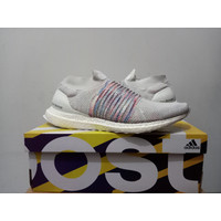 Sepatu pria Adidas ultraboost laceless ORIGINAL 100% BNIB white 44