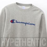 Champion Sweatshirt Script Crewneck Gray Original / Grey Sweater / Abu