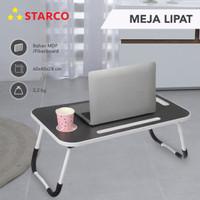 Starco Meja Belajar Lipat Laptop Serbaguna /Meja Belajar/Meja laptop - Hitam