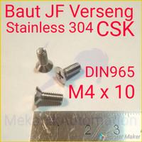Baut JF M4 x 10 SUS304
