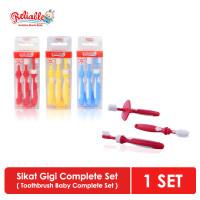 [PIKAPIKA] Reliable Sikat Gigi Bayi Set 3 IN 1|TRAINING TOOTHBRUSH SET - Merah
