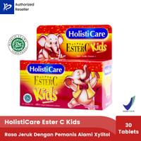 Holisticare Ester C Kids - 30Tablet Hisap Dengan Pemanis Alami Xylitol