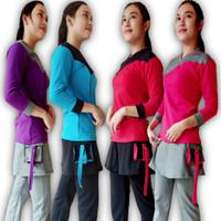 Setelan Olahraga Wanita Baju Senam Muslim Setelan Olahraga Muslim - Pink, XXXL