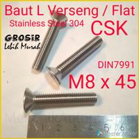 Baut L Flat M8 x 45 Verseng SUS304