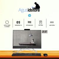 HP PC AIO 22-dd0117d Core i3-1005G1 4GB 1TB HDD 21.5 FHD WIN10 Murah