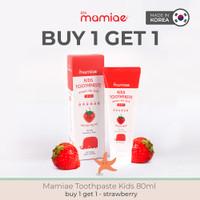BUY1 GET 1 Mamiae Kids Organic Toothpaste 2-12thn Odol Organik Xylitol