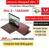 LAPTOP LENOVO IDEAPAD SLIM 3-AMD ATHLON SILVER 3050U-4GB-SSD 256GB+OHS