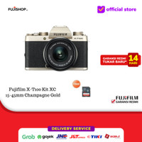 Fujifilm X-T100 Kit 15-45mm - Abu-abu