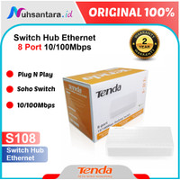 Tenda Switch Hub 8 Port S108 Fast Ethernet 10 100Mbps
