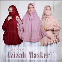 jilbab lengan masker / bergo berlengan masker/ jilbab masker