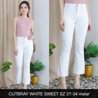 CELANA JEANS WANITA CUTBRAY WHITE SWEET - SYS CLOTHIER