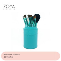 Zoya Cosmetics Brush Set 12 Pcs Turquoise