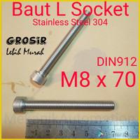 Baut L M8 x 70 SUS304