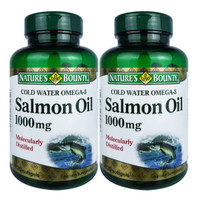 Natures bounty cold water omega 3 salmon oil 1000mg isi 120 tablet x 2