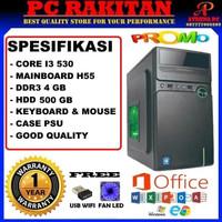 PC Komputer CPU Rakitan Murah Core i3 530 DDR3 4GB