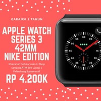 New apple watch series 3 42 mm nike