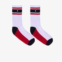 Geoff Max Official - Freya White Blue Red   Medium Socks   Kaos Kaki