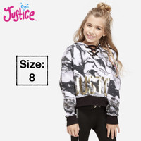 Hoodie Anak Perempuan Lace Up Neck Cloudy Heather Branded Original - No Logo, 8