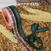 Pita 27016615 ±1.5cm x 10 Yard - Pita Natal - Christmas Ribbon