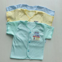 Special Quality SNI! 6Pcs Baju Pendek Bayi Baru Lahir Saffenda