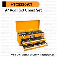 97-Pcs Mechanical Tool Chest Set INGCO HTCS220971 - Box Kotak Perkakas