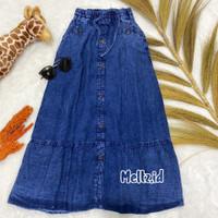 Rok Jeans Anak Tanggung Perempuan Model Kancing Umur 11-13 Tahun