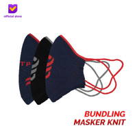 Masker Kain Knit Non Medis - Footstep Footwear Cloth/Knit Mask (3Pcs)